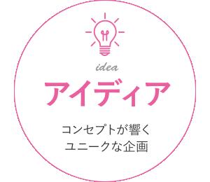 「アイディア」コンセプトが響くユニークな企画